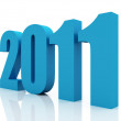 2011 new year, blue and white color — Stock Photo
