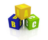 ABC Letters Blocks — Foto de Stock