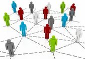 Conceptual image of teamwork Business concepts — Stock Photo