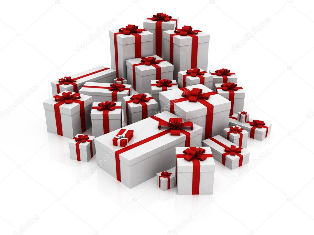 Gifts, red color — Stock Photo #7333296