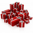 Gifts, red color — Stock Photo