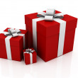 Royalty-Free Stock Photo: Gifts, red color