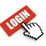Login button concept — Stock Photo