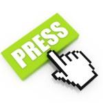 Press button concept — Stock Photo