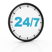 Twenty four seven clock — Stock Photo