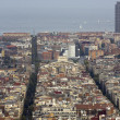 Stock Photo: Aerial views of city of Barcelona