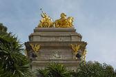 Coche de caballo estatua — Foto de Stock