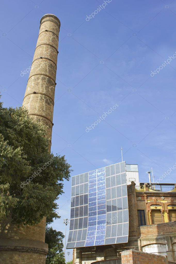 Clean energy front of the chimney cleaner fossil energy  Stock Photo #7279026