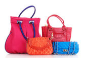 Many color women bags — Stock Photo