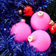New Year and Christmas decorations - Stock Photo