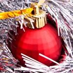New year decoration on shining background — Stock Photo