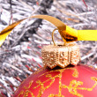 New Year and Christmas decorations — Stock Photo