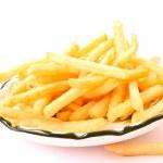 Delicious french fries potatoes on white — Stock Photo #6781124