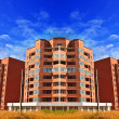 Apartments flats in high rise building in brick with beautiful — Stock Photo #6781373