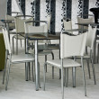 Stock Photo: Few chairs and table