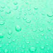 Water Drops background with big and small drops — Stock Photo