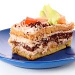 Sweet cake over white background — Stock Photo #6782222