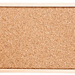 Corkboard isolated on white — Stock Photo