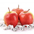 Royalty-Free Stock Photo: Apples and a measure tape, diet concept