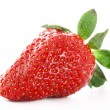 Strawberry isolated on white - Stock Photo