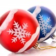 Christmas balls isolated on white — Stock Photo