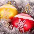 Christmas balls in shiny decoration — Stock Photo #6785147