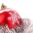 Christmas balls in shiny decoration — Stock Photo #6785157