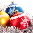Christmas balls in shiny decoration — Stock Photo #6785159