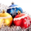 Christmas balls in shiny decoration — Stock Photo #6785161