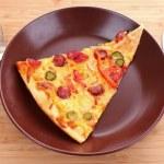 chutná italská pizza na plechu — Stock fotografie