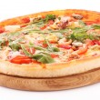 Pizza isolated on white — 图库照片
