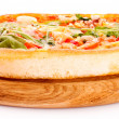 Pizza isolated on white — Foto de Stock