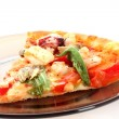Slice of Tasty Italian pizza — Stock Photo
