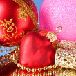 Multicoloured shining adornments for xmas — Stock Photo #6786207