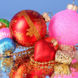 Stock Photo: Multicoloured shining adornments for xmas