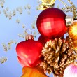 Multicoloured shining adornments for xmas — Stock Photo #6786264