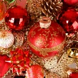 Foto Stock: Coloured sparkling decorations for new year's tree