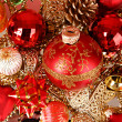 Coloured sparkling decorations for new year's tree — Stock Photo