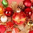 multicolores brillantes adornos para Navidad — Foto de Stock