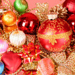 Multicoloured shining adornments for xmas — Stock Photo #6786314