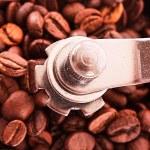 zbliżenie młynek do kawy — Zdjęcie stockowe