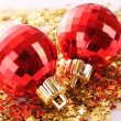 New year decoration on shining background — Stock Photo