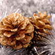 Cone in new year decoration - Stockfoto
