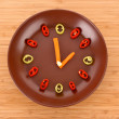 Stock Photo: Food clock