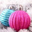 Christmas balls in shiny decoration — Stock Photo #6787884
