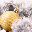 Christmas balls in shiny decoration — Stock Photo #6787898