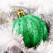 Christmas balls in shiny decoration — Stock Photo #6787904