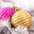 Christmas balls in shiny decoration — Stock Photo #6787910