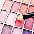 Royalty-Free Stock Photo: Brush and eye shadows