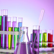 Royalty-Free Stock Photo: Test tubes on purple background
